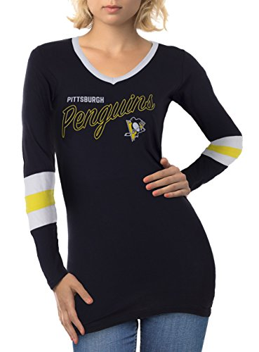 Nhl Womens Long Sleeve - Calhoun Sportswear NHL Ladies Official Team Long Sleeve Cover Up (Pittsburgh Penguins, X-Large)
