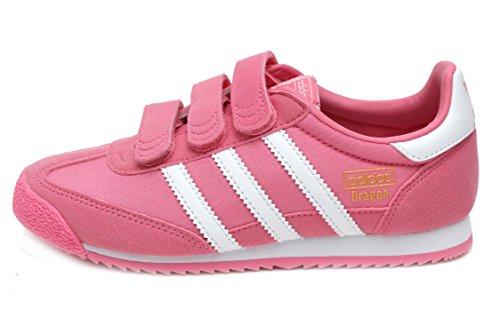 adidas Dragon OG CF (Preschool) in Pink/White by