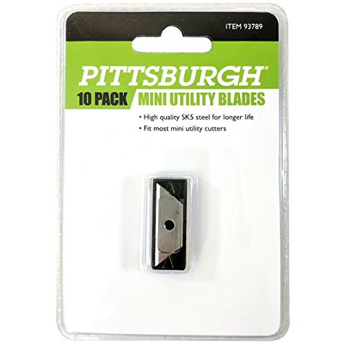 (Pittsburgh Mini Utility Knife Replacement Blade 10 Pack)