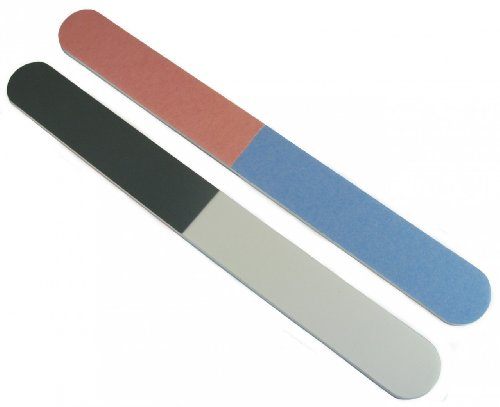 "Jaylie TM 4-Way 7"" Premium All Purpose Nail File and Buffers 12 Pack"