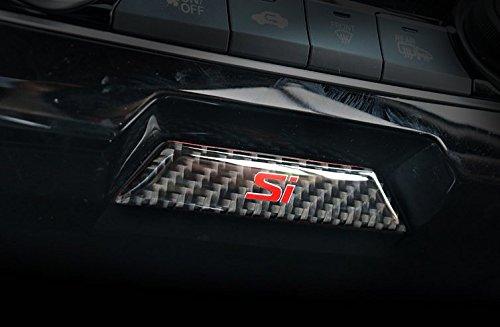Carbon Fiber Center Console Storage Box Cover Trim For Honda Civic Si 2016-2018