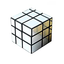 3x3x3 Eco-friendly Plastics Speed Mirror Cube Stickerless Speed Magic Cube (Silver)