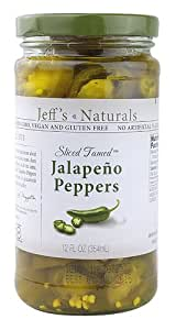 Jeff's Naturals Sliced Tamed Jalapeno Peppers, 12 Ounce (Pack of 2)