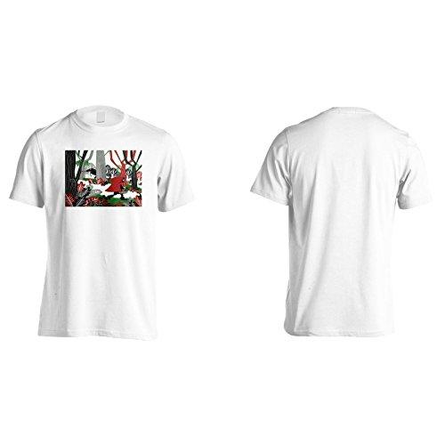 Neues Kleines Mädchen Roter Wald Herren T-Shirt m211m