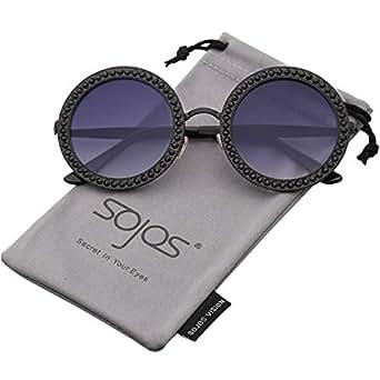 f681848d43b Amazon.com  SOJOS Round Oversized Rhinestone Sunglasses for Women ...