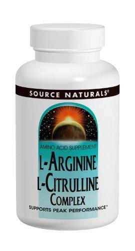 L-arginine L-citrulline Complex - Source Naturals L-Arginine L-Citrulline Amino Acid Complex, Muscle Metabolism - 60 Tablets