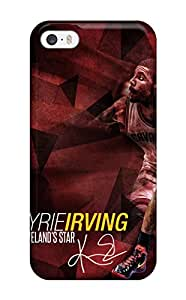 New Fashion Premium Tpu Case Cover For Iphone 5/5s - Kyrie Irving Cleveland Cavaliers Nba Basketball