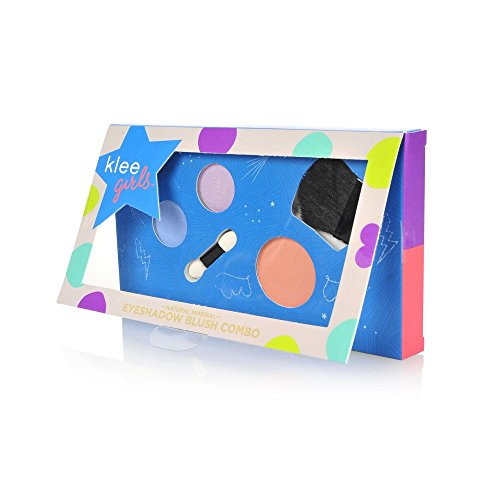 Luna Star Naturals Klee Girls Makeup Combo, Central Park Rock Periwinkle/Lavender Shadow/Coral Blush, 3 Ounce