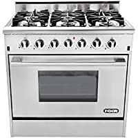 NXR DRGB3602 Professional Style Gas Range, 36', Stainless Steel