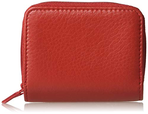 Buxton Pebble Wizard Wallet, Red