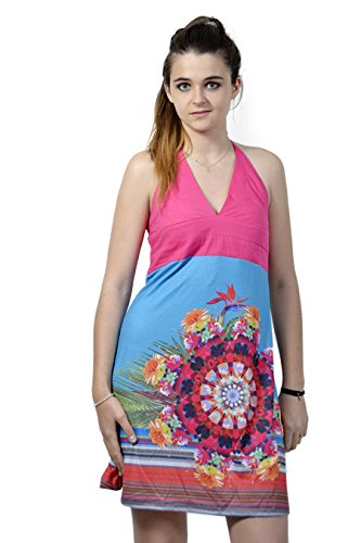 SMASH - Vestido - trapecio - Sin mangas - para mujer Azul