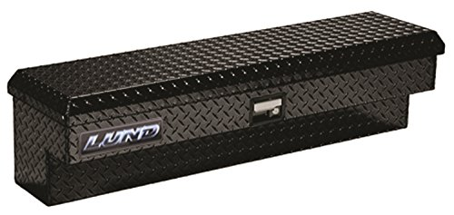 Lund 79748 48-Inch Aluminum Side Mount Box, Diamond Plated, Black