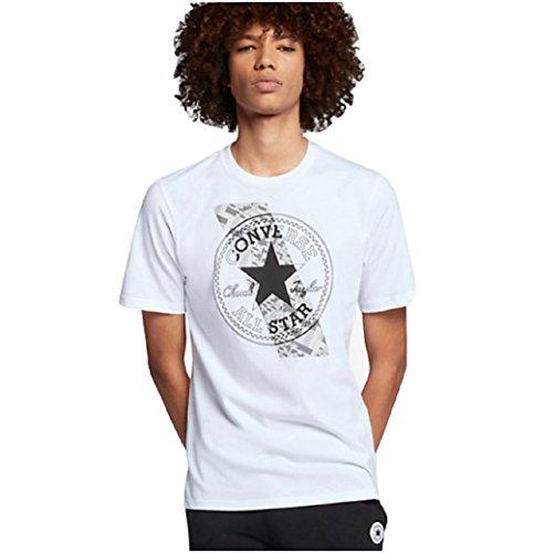Converse Chuck Patch Contrast Slash Men's T-Shirt, White (Large)
