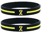 (12-pack) Yellow Ribbon Silicone Wristbands - Wholesale Bulk Pack of 1 Dozen Awareness Bracelets for Unisex Adults
