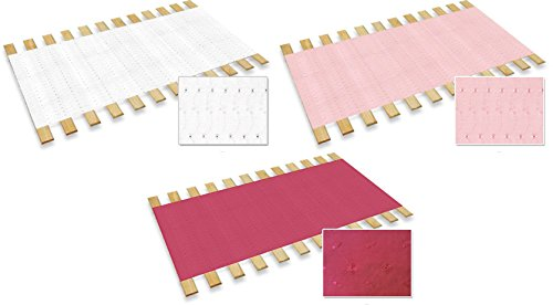 New Twin Size Custom Width Bed Slats with a Hot Pink Eyelet Fabric Roll - Choose your needed size - Eliminates the need for a link spring or box spring! by The Furniture Cove