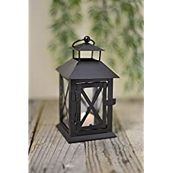 "Richland Metal Lantern Black 7"" Set of 12"