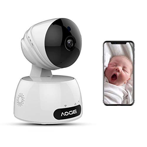 Home Security Camera, Compatible with Alexa Echo Show, AOGE Wireless 720P WiFi Indoor IP Survillance Camera with Free Cloud Storage(at Least Two Month),Two-Way Audio, Night Vision, Motion Detection