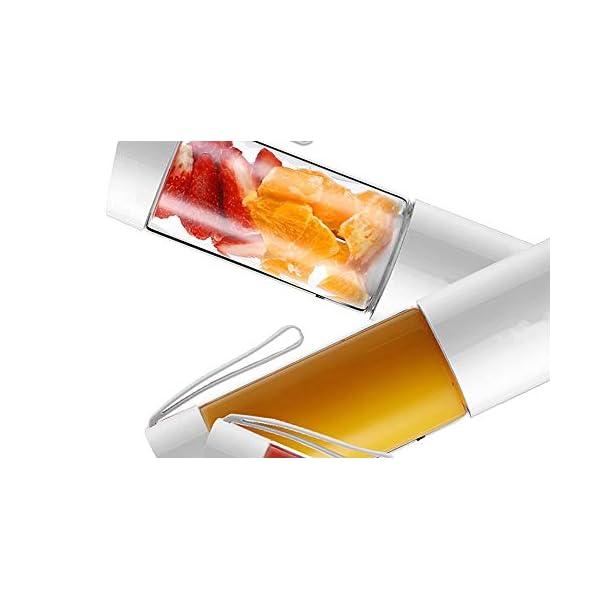 QZA, Frullatore Portatile da 250 ml, Estrattore di Succo USB, Spremiagrumi Ricaricabile, Mini frullatore per Frutta… 2 spesavip