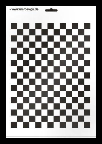 petit W d/Échiquier 179 A4/Textile//Pochoir Mural