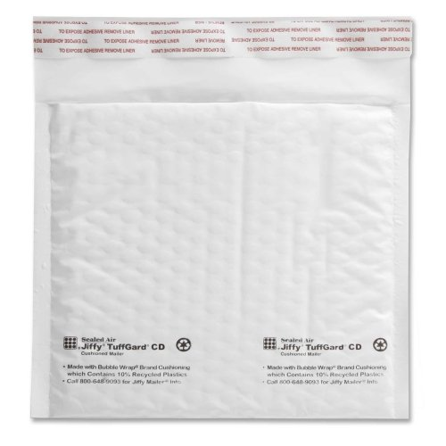 Jiffy TuffGard Cushioned Mailers (CD-ROM, 7-1/4-Inch x 8-Inch, Case of 200) by Jiffy Steamer