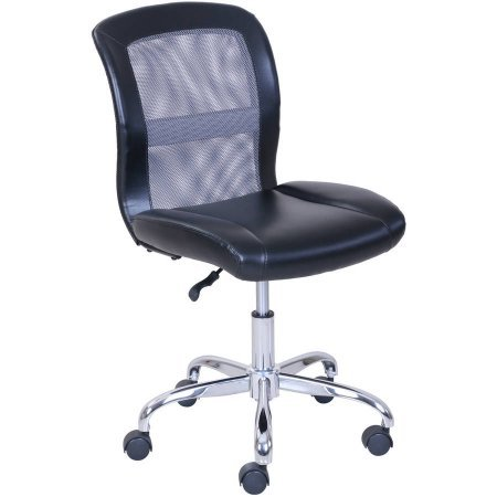 Mainstays Vinyl and Mesh Task Chair (Black/Gray) by Mainstay