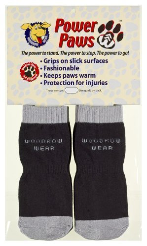power-paws-paw-protection-and-traction-for-your-pup-black-w-gray-trim-medium-dog-weight-45-75-by-woo
