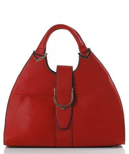 Designer Inspired Giovanna Satchel/Handbag – Red, Bags Central