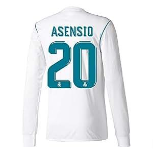 Player Print - adidas Performance Real Madrid Asensio n.º 20 - Camiseta de primera equipación del Real Madrid 2017-2018, diseño de Asensio n.º 20, hombre, blanco
