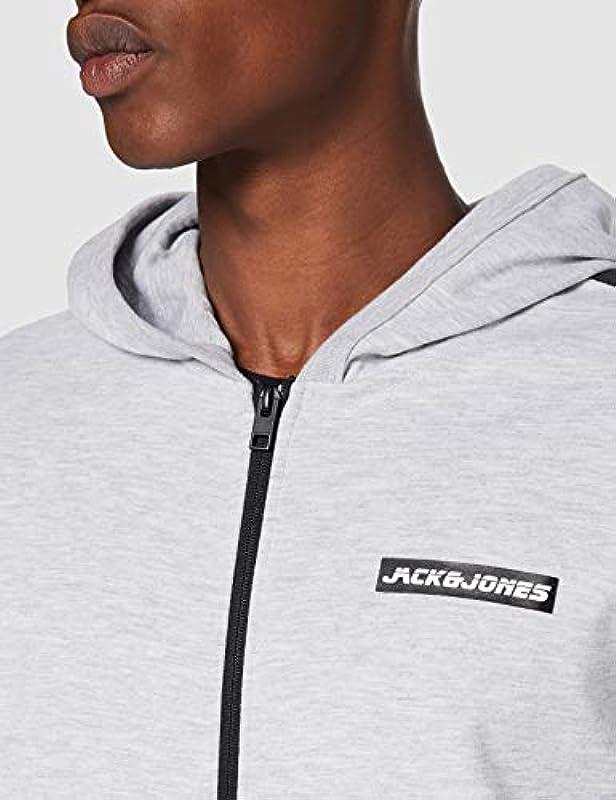JACK & JONES Męski sweter Jcokally Sweat Zip Hood: Odzież