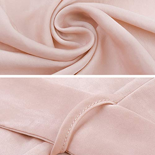Algodón Pijamas S Pink Punto De color Otoño Retro Pink Albornoz Viento Verano Y Camisón Mujer Corte Primavera Size daaUwF