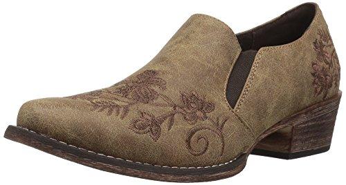 Roper Women's Birkita Ankle Boot, Tan, 9.5 Medium US - Roper Leather Fashion Boots