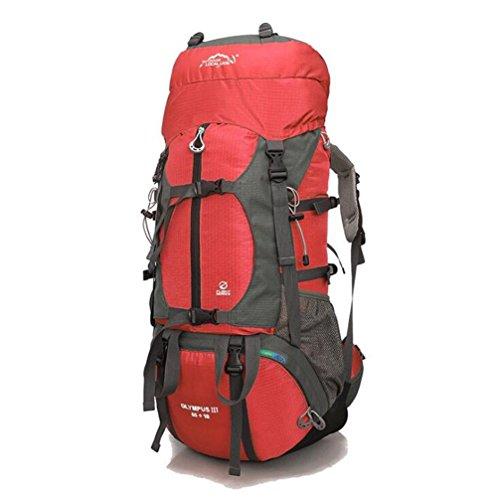 Wmshpeds Bolsa al aire libre para montañismo 65L mochila de gran capacidad para camping bolsa de viaje al aire libre mochila C