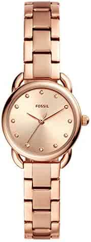 101969d1f72 Fossil Women s Tailor Mini Rose Gold Tone Stainless Steel Watch ES4497