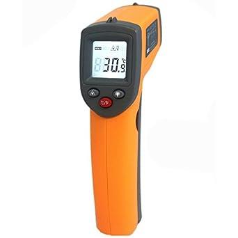 Generic GS320 - Termómetro infrarrojo digital con pantalla LCD y sensor de temperatura automático, sin contacto: Amazon.es: Industria, empresas y ciencia