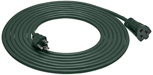 AmazonBasics 16/3 Vinyl Outdoor Extension Cord | Green, 15-Foot