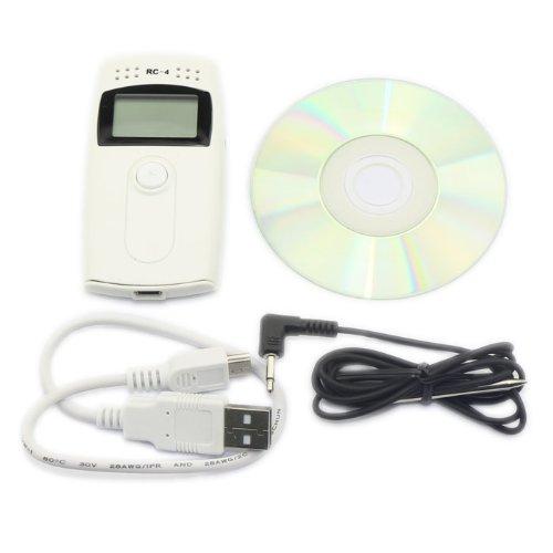DROK Portable Mini Temp Recorder 30°c ~~ +60°c LCD Temperature Data logger Probe Data Loggers with USB Cable~