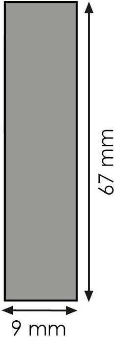 Rechteckleiste Bastelleiste Abschlussleiste aus unbehandeltem Kiefer-Massivholz 900 x 9 x 57 mm