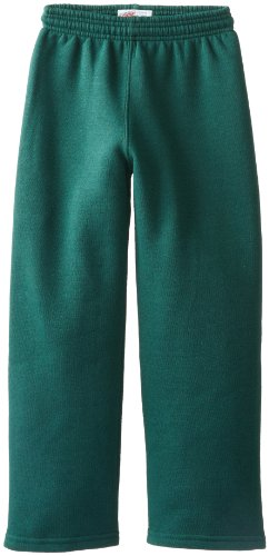 Soffe Big Boys' Open Bottom Heavy Weight Sweatpant, Dark Green, Small (Green Sweatpants Kids)
