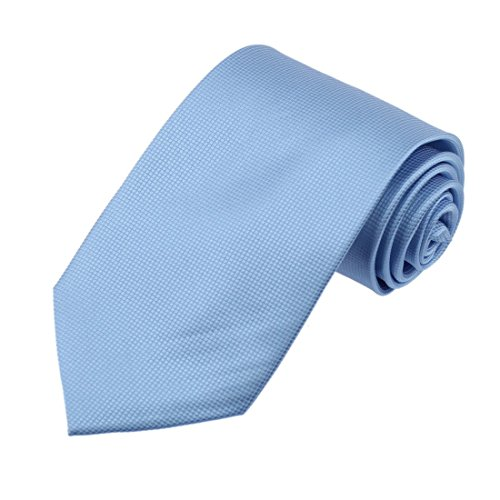 DAA3C01L Cornflower Blue Checkered Woven Microfiber Neckwear For Mens Fabric Presents By Dan (Blue Neckwear)