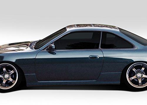 Duraflex ED-TGR-181 N Sport Side Skirt Rocker Panels - 2 Piece Body Kit - Fits Nissan 240SX - 1995 1996 1997 1998 | 95 96 97 98 (Body 240sx Kits)