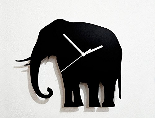 Elephant Silhouette - Wall Clock