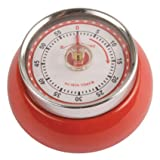 Kikkerland Magnetic Kitchen Timer, Red