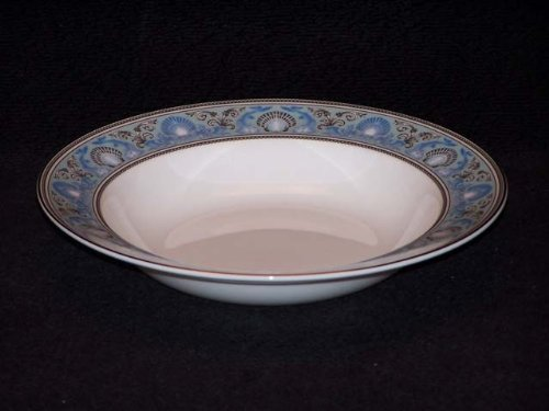 Wedgwood Dolphins Blue Rim Soup Bowls