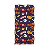 LORVIES Halloween Trick Or Treat Pattern Bath Towel Quick Drying Beach Towel for Home Bathroom Pool and Gym 32 X 64 Inches
