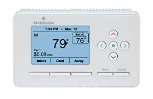 emerson ee542 1z smart energy thermostat and energy monitor programmable household thermostats. Black Bedroom Furniture Sets. Home Design Ideas