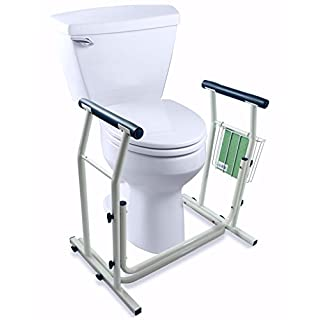 Toilet Rail   Bathroom Safety Assist With Grab Bars And Padded Handrails  For Elderly, Disabled