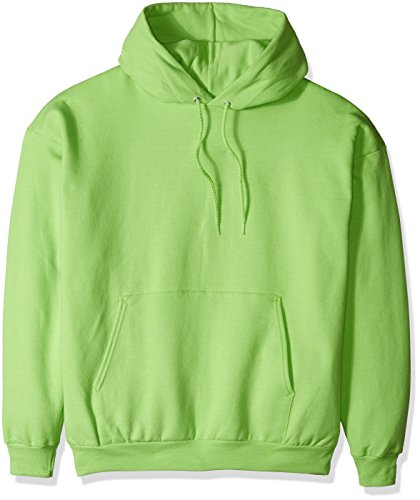 (Hanes Men's Pullover EcoSmart Fleece Hooded Sweatshirt, Lime)
