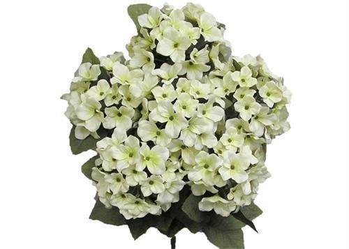 Satin Hydrangea Silk Flower Bush 7 Heads Cream (Hydrangea Cream)