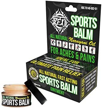 ZEN Balm - Sports All Natural Pain Relief with Narayani Oil, 0.7oz