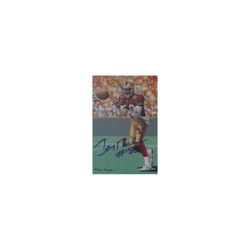 Jerry Rice San Francisco 49ers Signed Goal Line Art